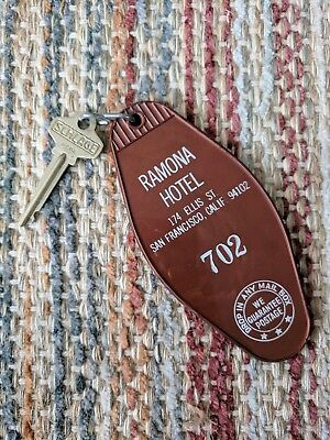 Vintage Hotel Room Key Fob Ramona Hotel San Francisco California Room 702