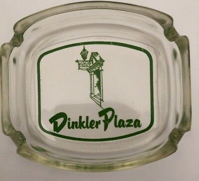 Vintage Dinkler Plaza Glass Ashtray  Atlanta