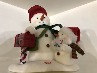 Special Delivery Hallmark 2018 Snowmen With Red Mail Box With Sound New