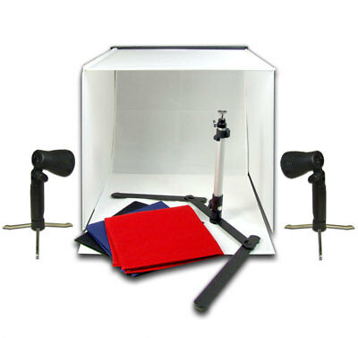 PBL Photo Light Tent With 4 Backdrops Lights Camera Stand