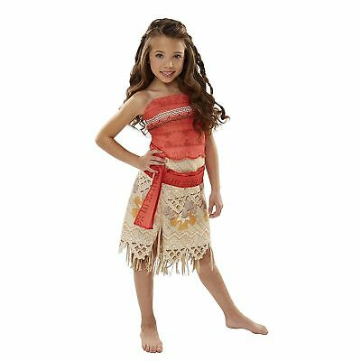 Moana Girls Adventure Outfit Child Size Small(4-6X) Costume. Great for Halloween