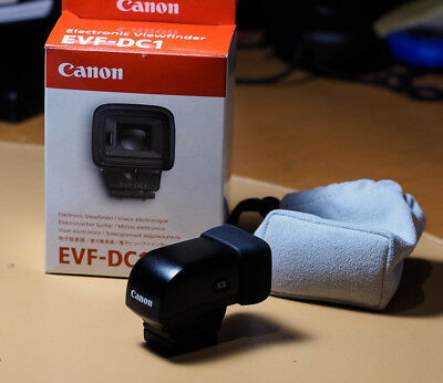 Canon EVF-DC1 Electronic Viewfinder for G1X-II G3X M3 M6 M10. Mint condition