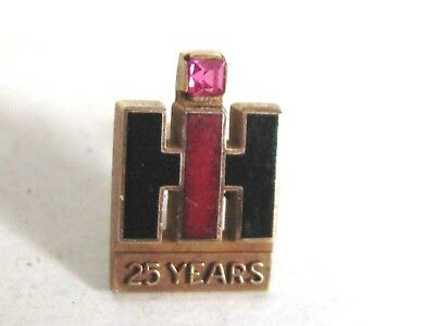 International Harvester Co Ihc Tractors Employee Service Pin 25 Year 10 K Gold L