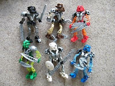 Lego Bionicle Assembled TOA NUVA Figures set 8566 - 8572 no manuals from 2002