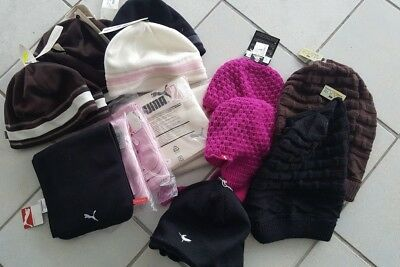 Job Lot Wholesale Brand New Fleece/Wool/Acrylic Hats and Puma Scarves x 18 L109