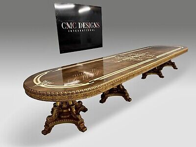World class Opulent Louis XVI style dining table set range, 8ft to 20ft plus