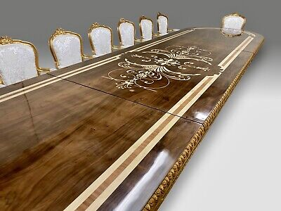 Amazing World class Louis XVI style dining table set range, 8ft to 20ft plus