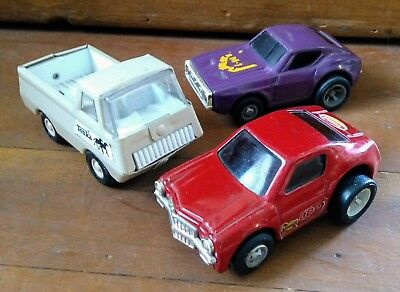 Lot Of 3 Vintage Tonka Toy Vehicles - Metal- One Truck And 2 Wind-Up Cars