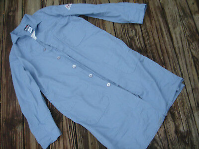 Mens adult Bulwark light blue Smock lab coat /shirt FR flame resistant Size S