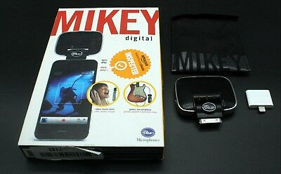 Blue Mikey Microphone With Lightning Adapter iOS iPad iPhone Mic