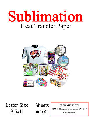 High Quality Dye Sublimation Transfer Paper 200 sheets.8.5x11