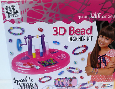 3D Bead Designer Kit Spin Paint Make Your Own Glitzy Beads Girls Xmas Gift Idea