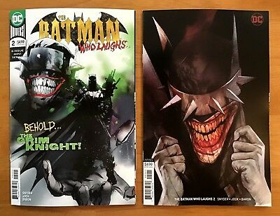 Batman Who Laughs 2 2019 Jock A Cover + Cover B Variant Ben Oliver Cover DC NM+