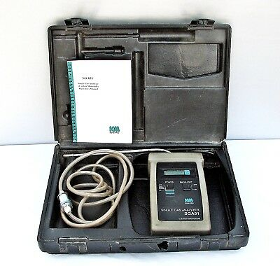KANE-MAY SGA91 Single Gas Carbon Monoxide Analyzer in Case Complete with Manual