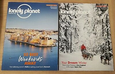2x Lonely Planet Magazine Bundle Jan / Feb 2018 - Subscriber Cover Issue 109 110