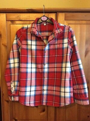 M&S Boys Long Sleeve Check Shirt Age 10-11 Years.
