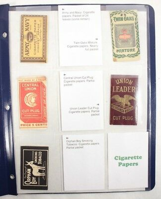 Lot of Vintage Cigarette Papers Advertising Collectibles Army Navy Twin Oaks