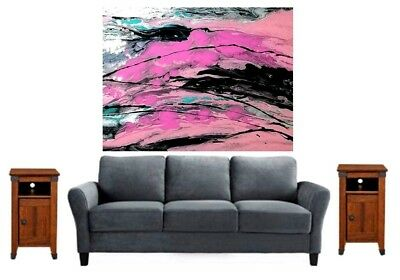 Original Abstract Painting/Abstract Pink Painting On Canvas/Fluid Art Painting