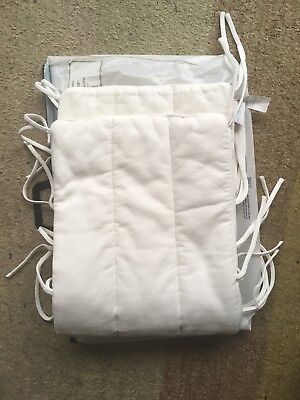 The Little White Company Cot Bumper Plain White