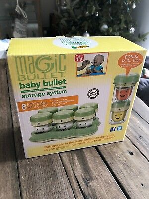 NEW Magic Bullet / Baby Bullet 8 Piece Storage Set / Cups