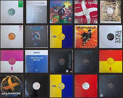 "20 x 12"" House Music Dance Vinyl Records, Electronic Rave Progressive Job Lot"