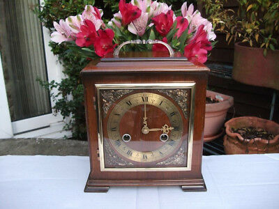 Smiths Enfield Walnut Case 8 Day Striking Bracket Clock. 1954. Fully Overhauled.