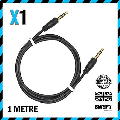 NEW AUX Cable /  1m 3.5mm Stereo Jack / Car Lead Male Audio Gold Plated