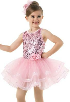 Dance Costume Extra Small Pink Ballet Sequin Weissman Solo Competition Pageant