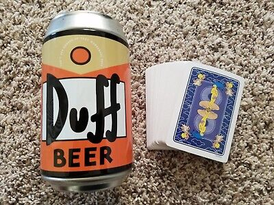Duff Beer Can The Simpsons - Removable Lid for Secret Storage With Playing Cards