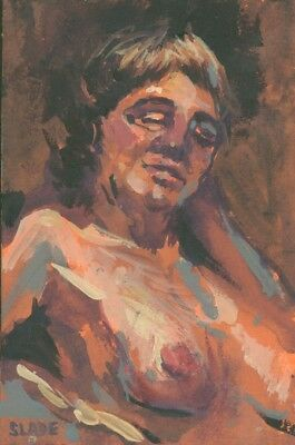 Original Art Figure Painting from Life Drawing Seasion