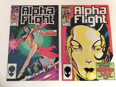 Alpha Flight #19 & 20 1St Talisman Appearance! John Byrne Key Comic Free S/h