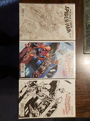Amazing Spiderman Lot Of 24 Exclusive Comics includes artist alex Ross frank cho