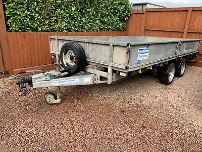 Ifor Williams lm146 plant drop side tractor dumper ramps trailer