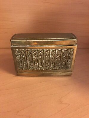 Cigarette Dispenser Erhard & Sohne Made In England Brass
