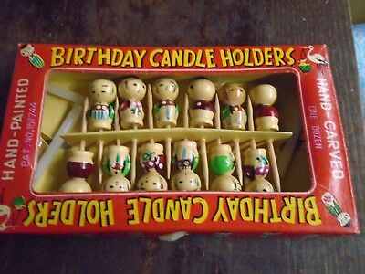Asian Birthday Candle Holders Vintage