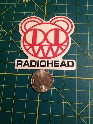 Radiohead Bear music sticker, wall decor, free US shipping