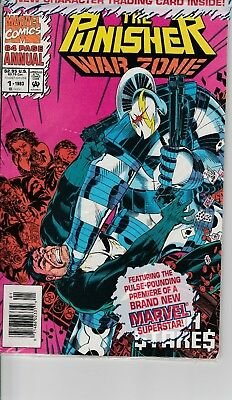 The Punisher: War Zone Annual #1 Marvel Near Mint Poly-Bagged w/Trading Card