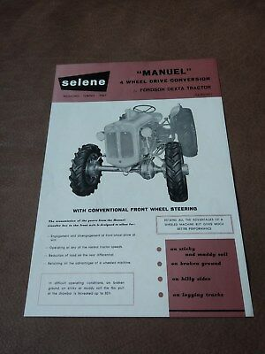 Fordson Dexta Selene Manuel 4WD conversion brochure RARE Roadless Doe etc