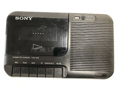 Sony TCM-818 Cassette Player/Recorder Cleaned and Tested