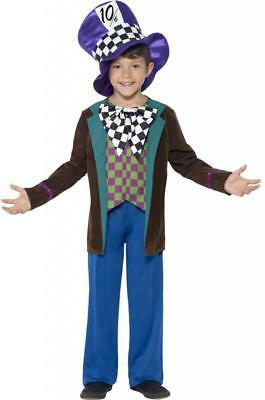 New Boys Deluxe Mad Hatter Fancy Dress Costume World Book Day Age 4 5 6 7 8 9