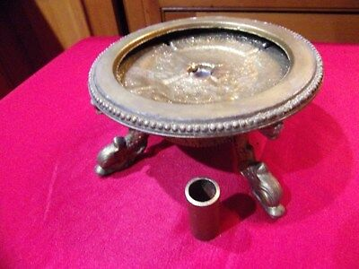 vintage table lamp base part Art Deco style, fish footed LOT # 2