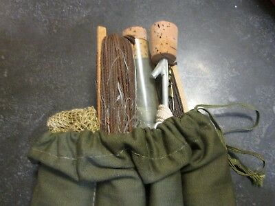 WW2 US Army fishing kit complete MINT property of Special Service Division NOS