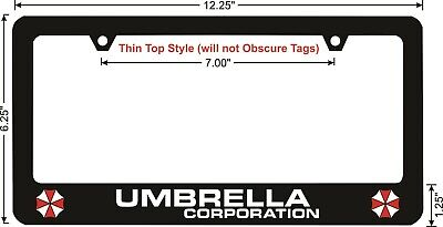 Resident Evil Umbrella Corporation Custom License Plate Frame