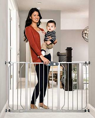 Easy Open EXTRA WIDE Pet Pets Baby Babies Child Toddler Proof Metal Safety Gate