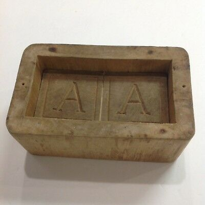 Antique Primitive Carved Wooden Butter Mold Press