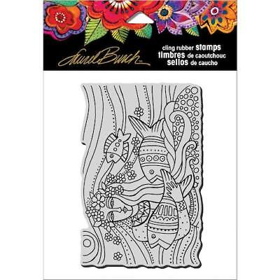 Stampendous 475x45 Crp151 Stamp Shipping Included Cling Rubber Stamp Mermaid