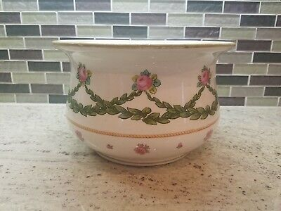 Royal Doulton Antique Chamber Pot England Hand Decorated w/ Flowers