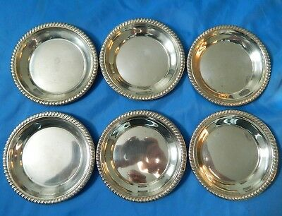 6 Antique / Vintage dessert Dishes plates  sterling silver   182 Grams