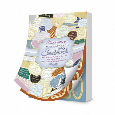 620 individual sentiments Hunkydory Essential Book of Sentiments 2016