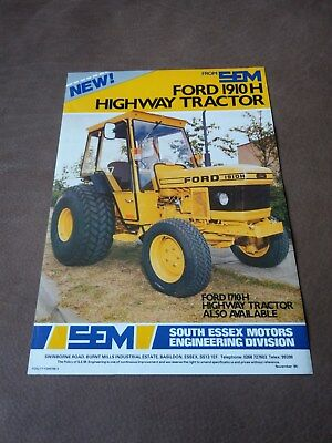 SEM engineering Ford 1910H tractor Ford New Holland 1984